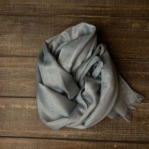 Shimmery silver lurex gray scarf wrap shawl hijab